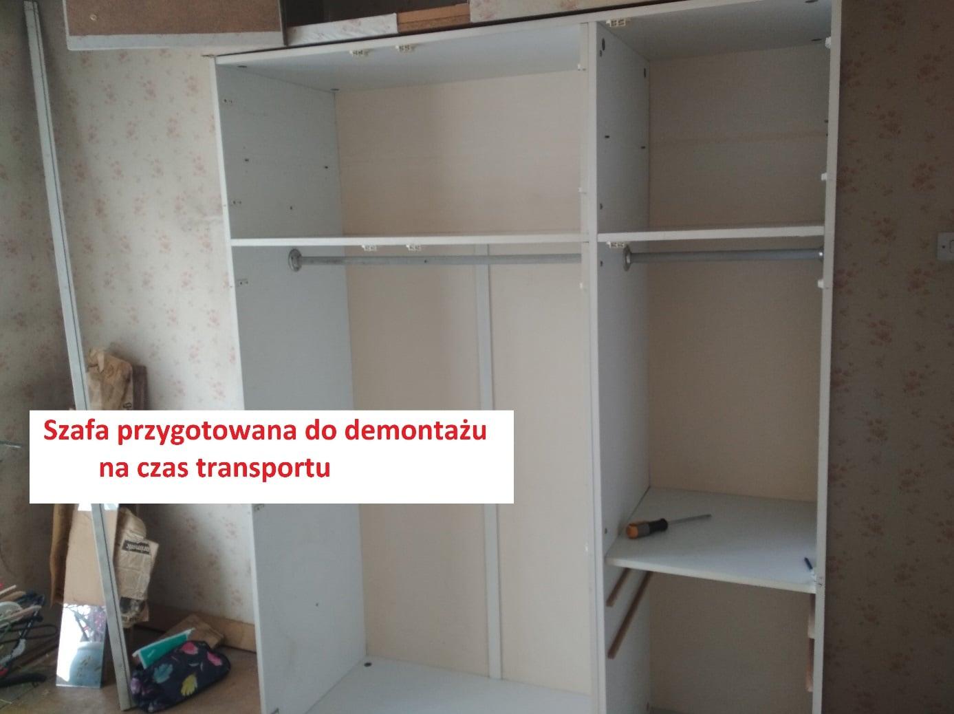 Demontaż szafy - przeprowadzki Poznań